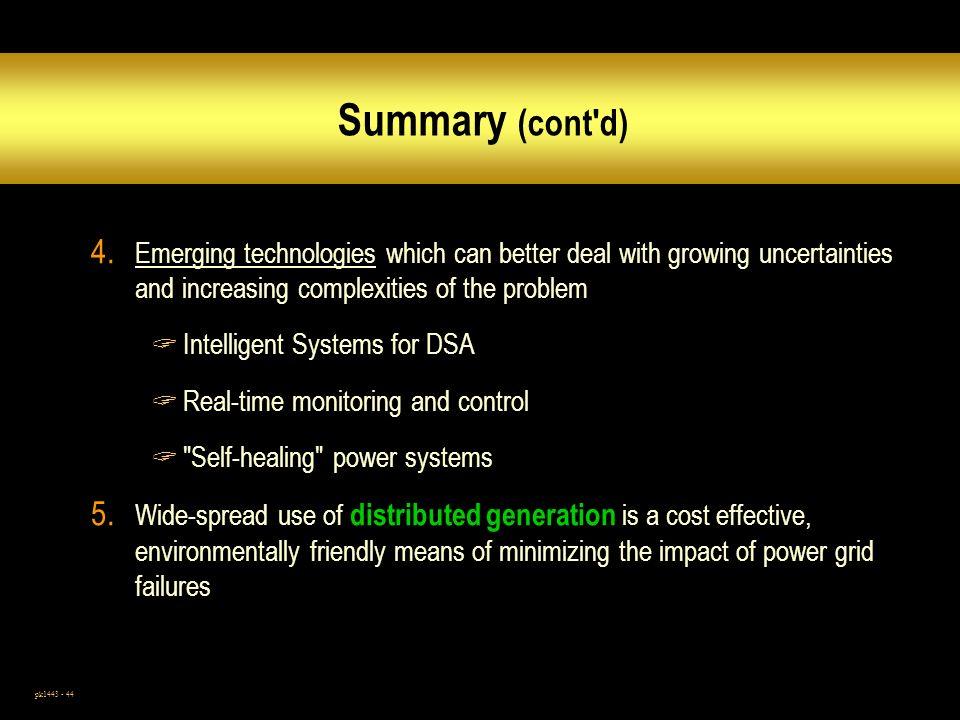 pk1443 - 44 Summary (cont d) 4.
