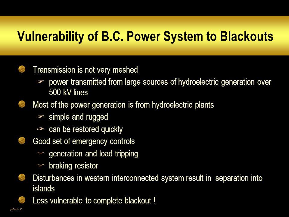 pk1443 - 45 Vulnerability of B.C.