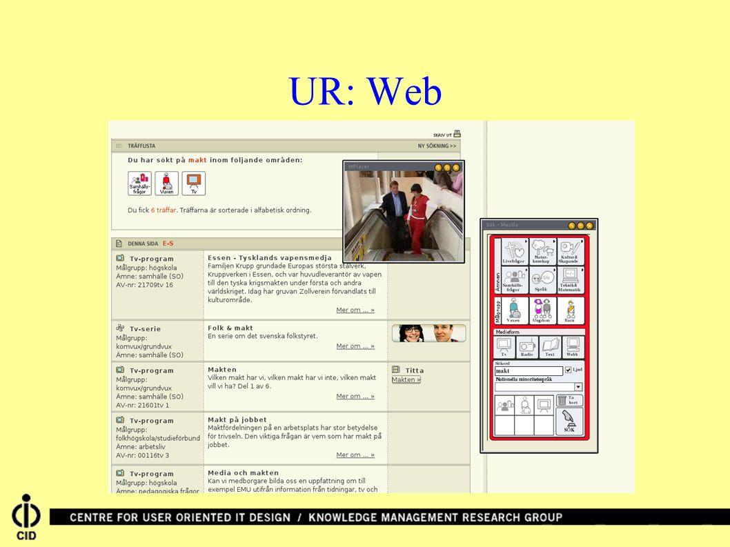 UR: Web