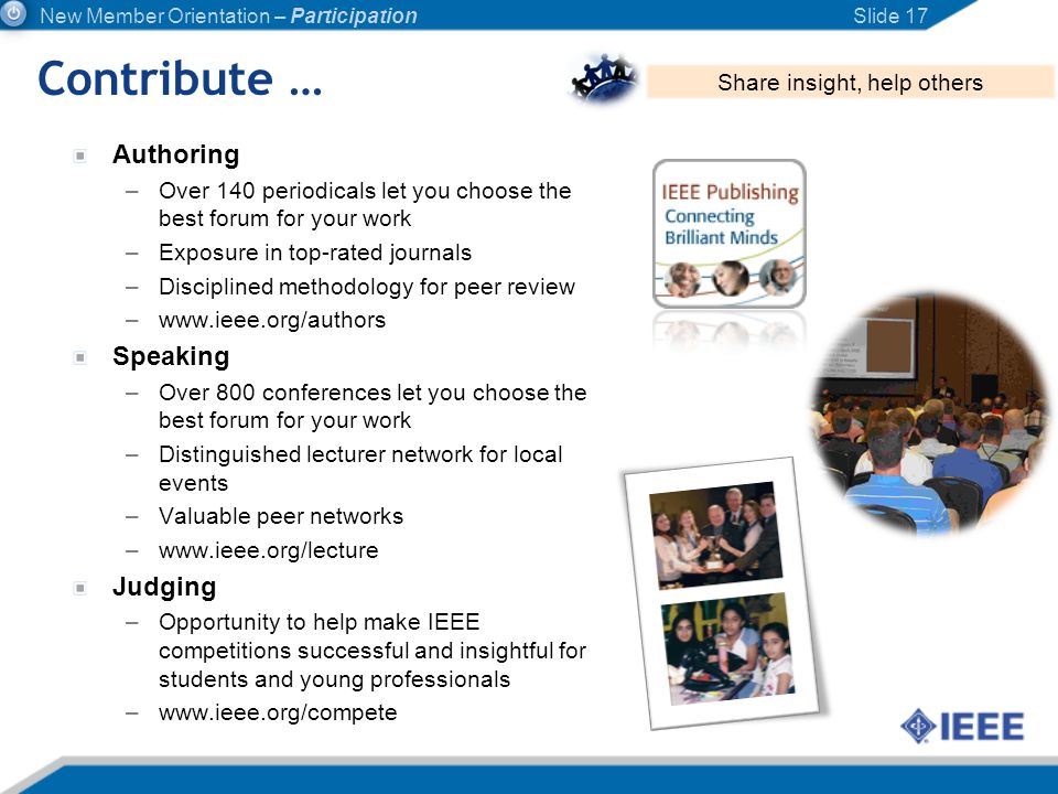 Authoring –Over 140 periodicals let you choose the best forum for your work –Exposure in top-rated journals –Disciplined methodology for peer review –