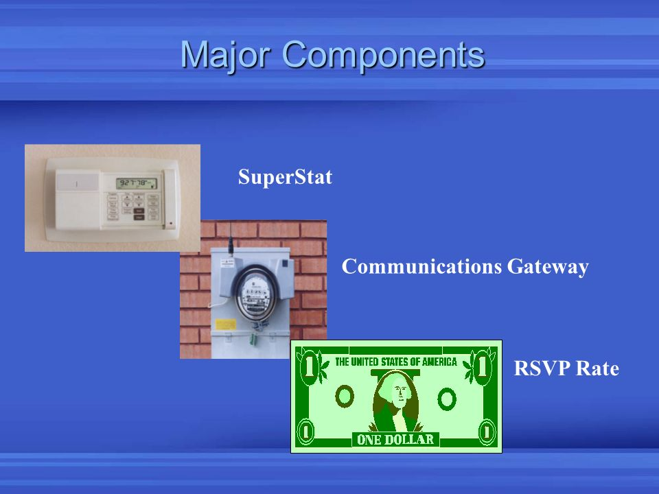 Major Components Communications Gateway SuperStat RSVP Rate