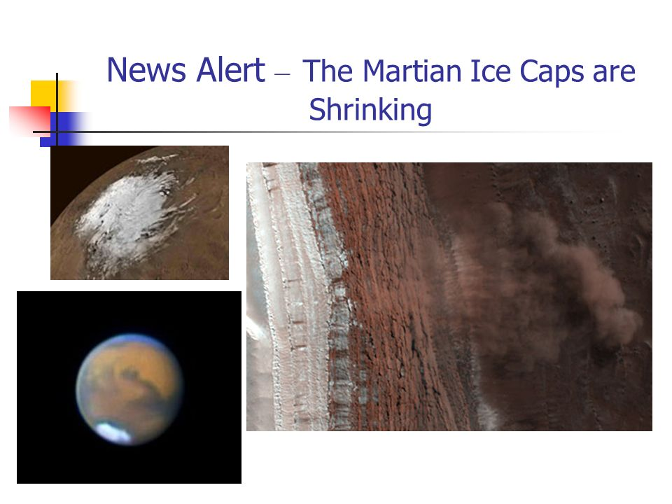 News Alert – The Martian Ice Caps are Shrinking