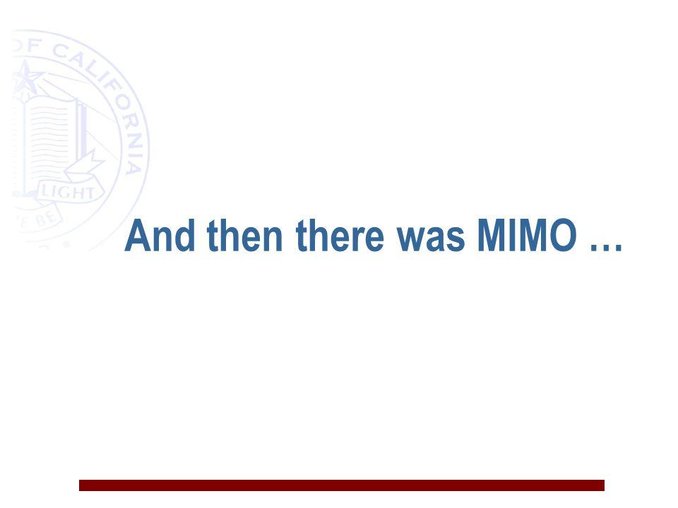 Status of MIMO n 802.11n n Pre-n products n 802.16 n 3G & beyond