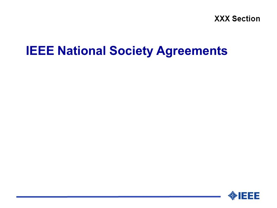 IEEE National Society Agreements XXX Section
