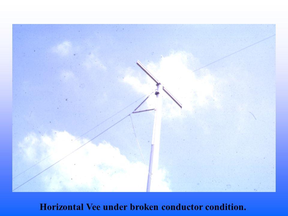 Horizontal Vee under broken conductor condition.