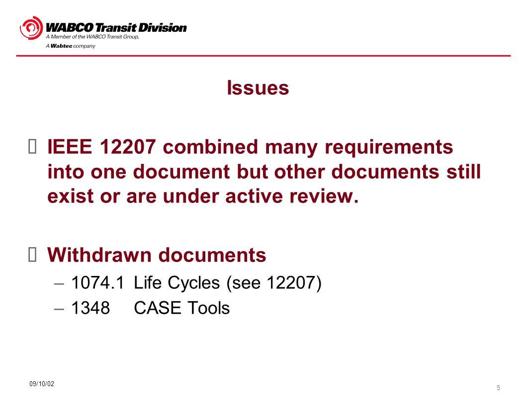 16 09/10/02 Software Elements Software Requirements Specification (SRS) Interface Control Document (ICD) - optional Software Design Description (SDD) Database Design Description (DBDD) - optional Software Requirements Traceability Matrix (SRTM)