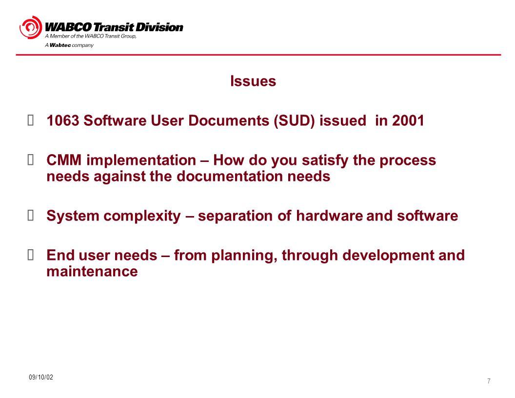 18 09/10/02 Software Release Software Version Description (SVD) Software User Manual (SUM)