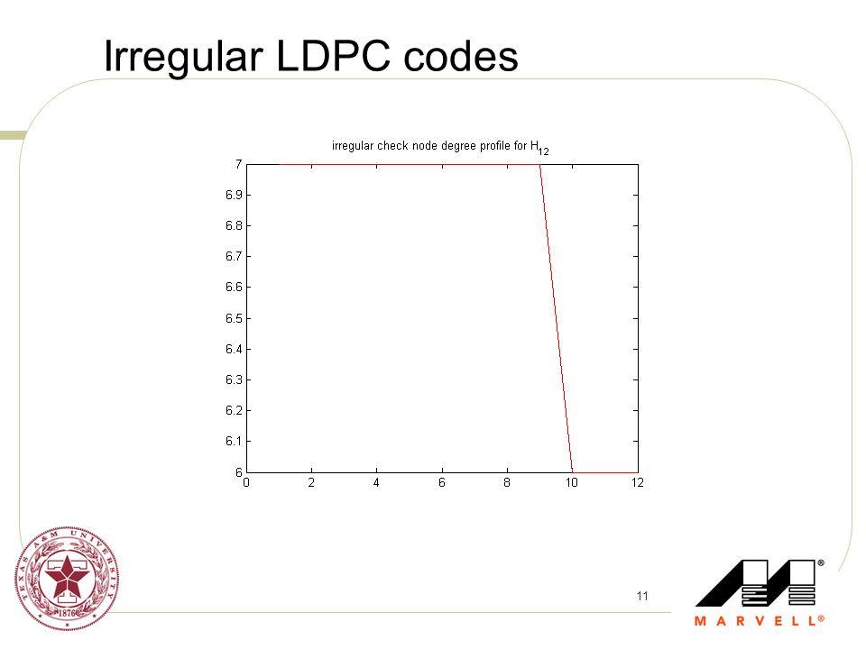 11 Irregular LDPC codes