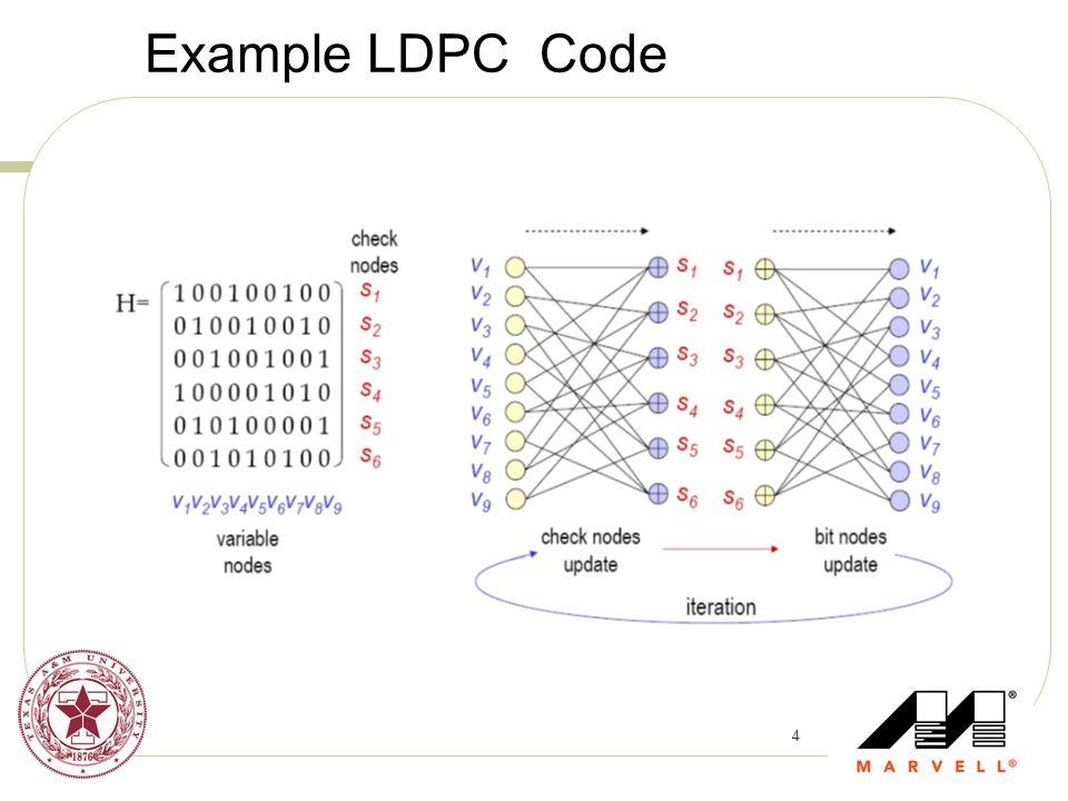 4 Example LDPC Code