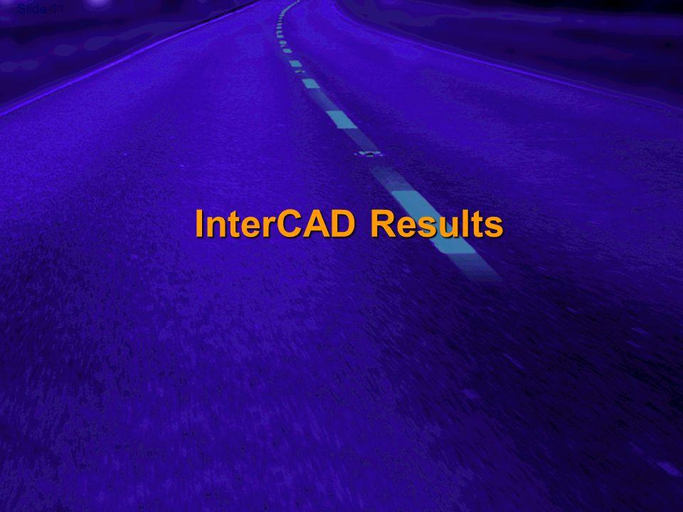 Slide 11 InterCAD Results
