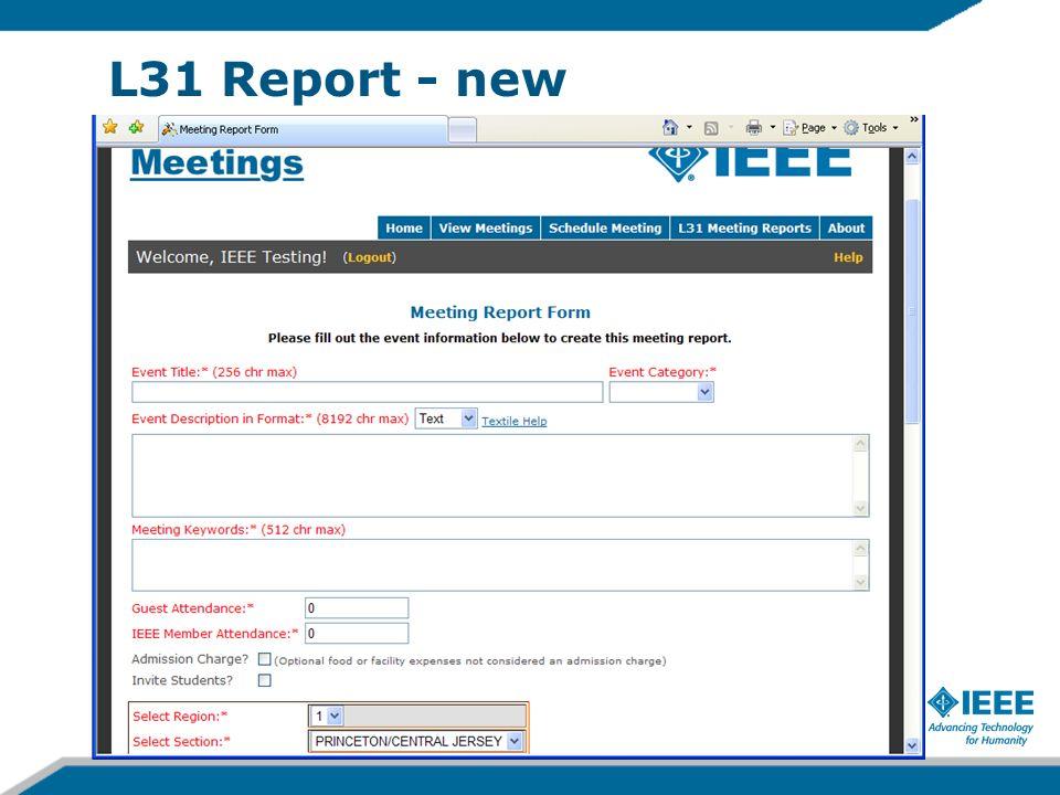 L31 Report - new