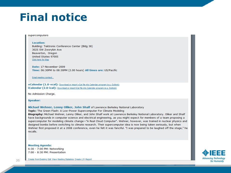 Final notice 35