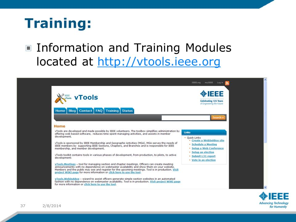Training: Information and Training Modules located at   2/8/ /8/201437