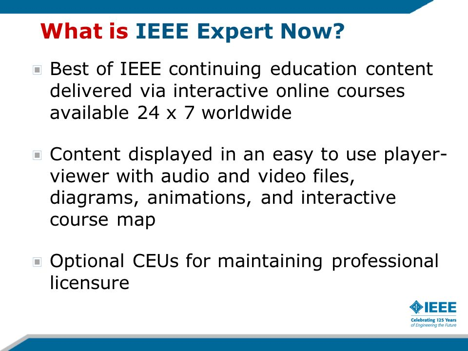 What is IEEE Expert Now.
