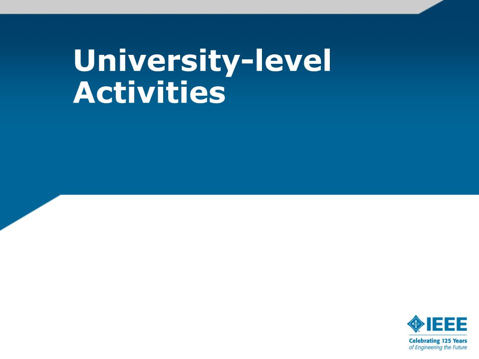 University-level Activities