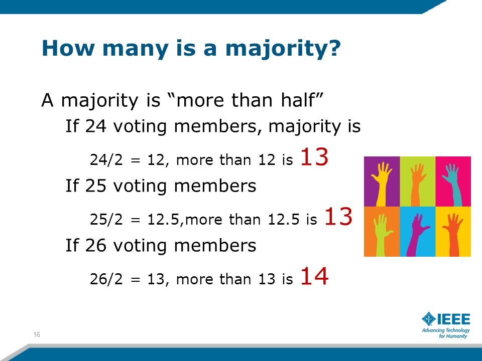 How many is a majority.