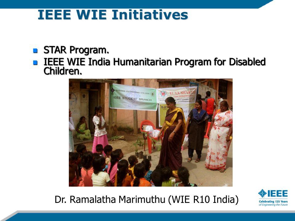 IEEE WIE Initiatives STAR Program. STAR Program. IEEE WIE India Humanitarian Program for Disabled Children. IEEE WIE India Humanitarian Program for Di