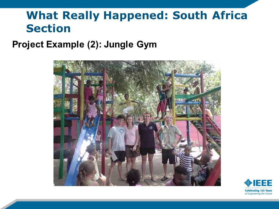 Project Example (2): Jungle Gym What Really Happened: South Africa Section