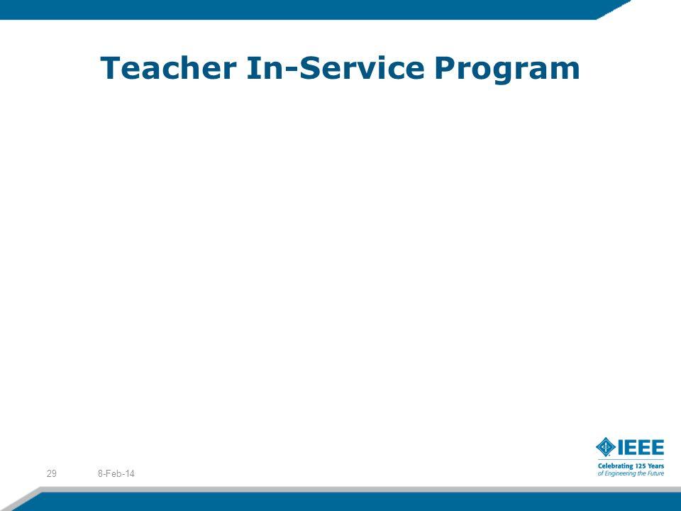 Teacher In-Service Program 8-Feb-1429