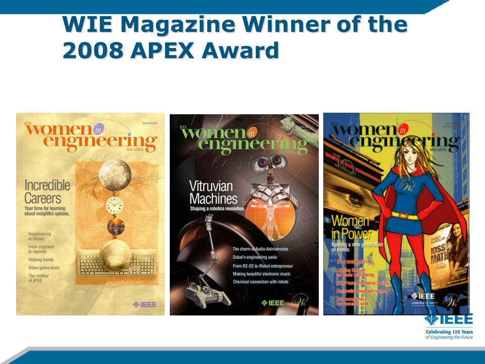 WIE Magazine Winner of the 2008 APEX Award