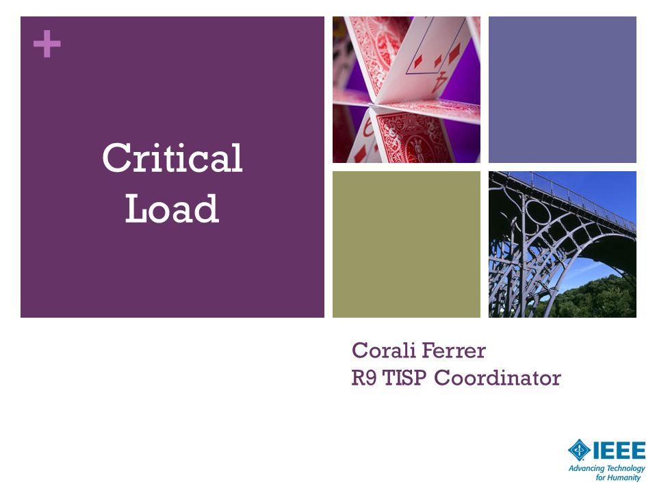 + Corali Ferrer R9 TISP Coordinator Critical Load