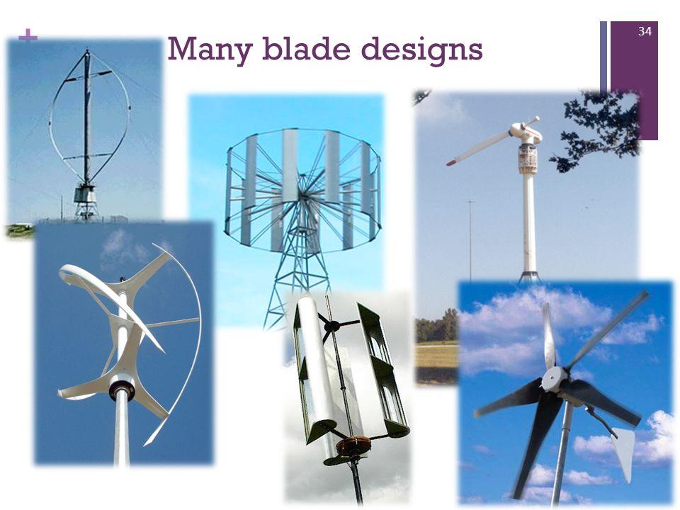 + Many blade designs 34