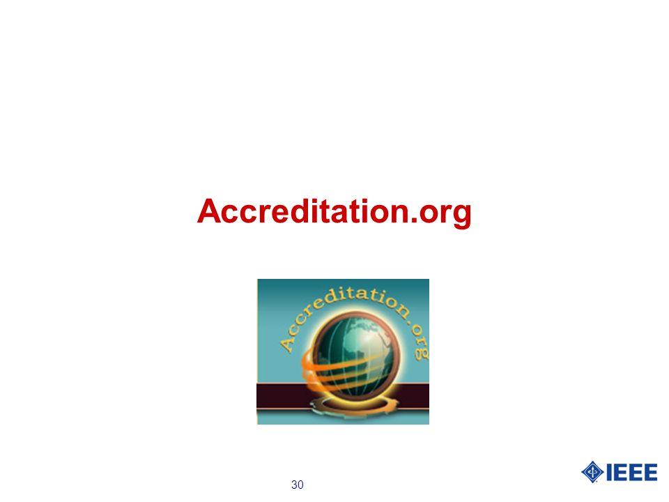 30 Accreditation.org