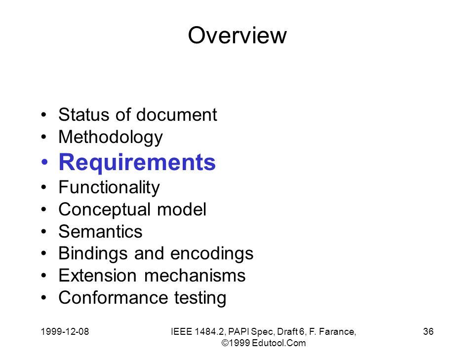 1999-12-08IEEE 1484.2, PAPI Spec, Draft 6, F.