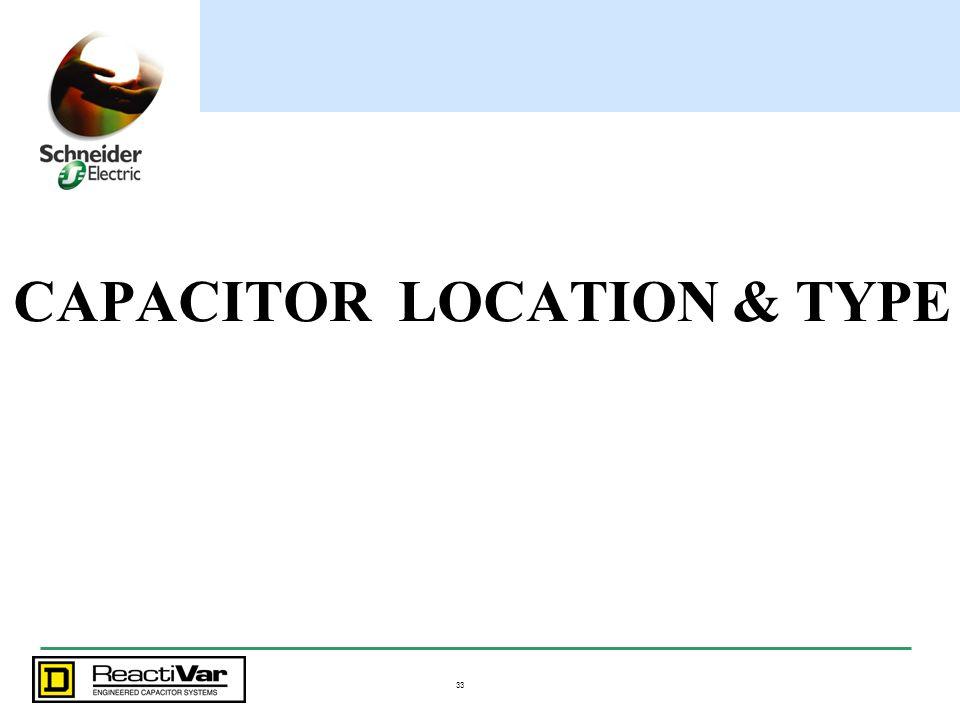 33 CAPACITOR LOCATION & TYPE