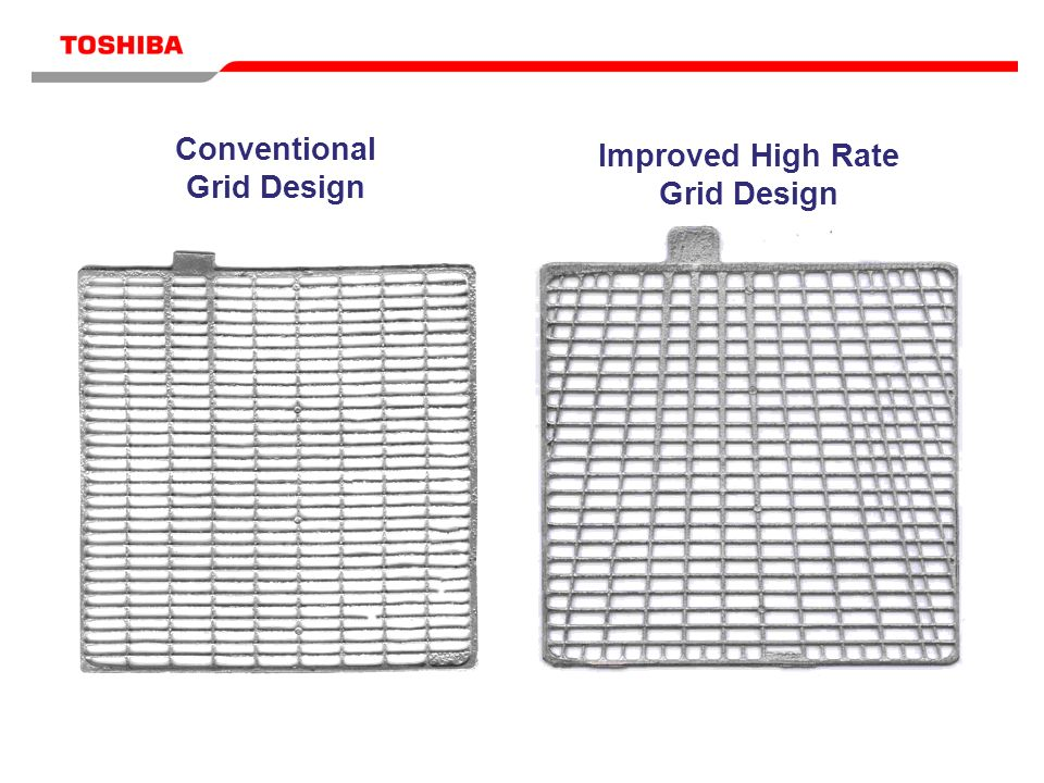 Conventional Grid Design Improved High Rate Grid Design