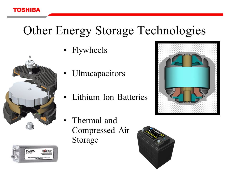 Other Energy Storage Technologies Flywheels Ultracapacitors Lithium Ion Batteries Thermal and Compressed Air Storage