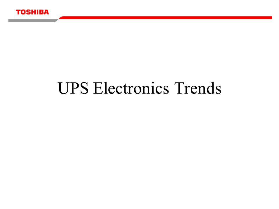 UPS Electronics Trends