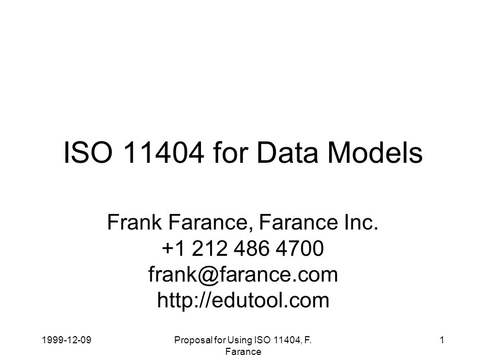 1999-12-09Proposal for Using ISO 11404, F.