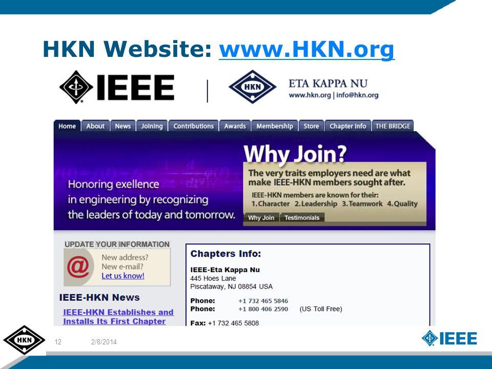 HKN Website: www.HKN.orgwww.HKN.org 2/8/201412