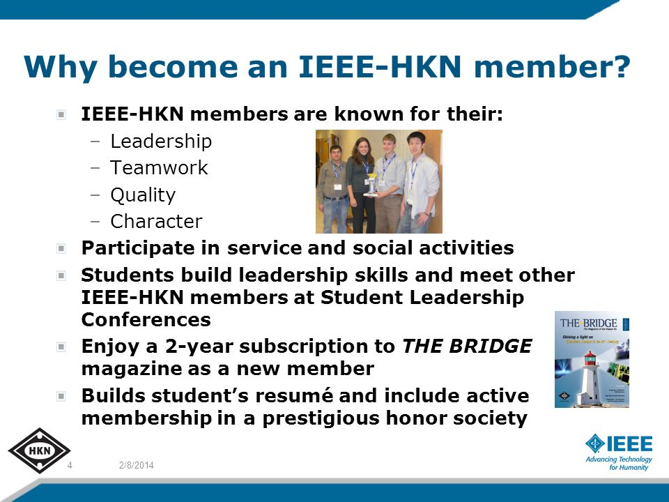 Why become an IEEE-HKN member.