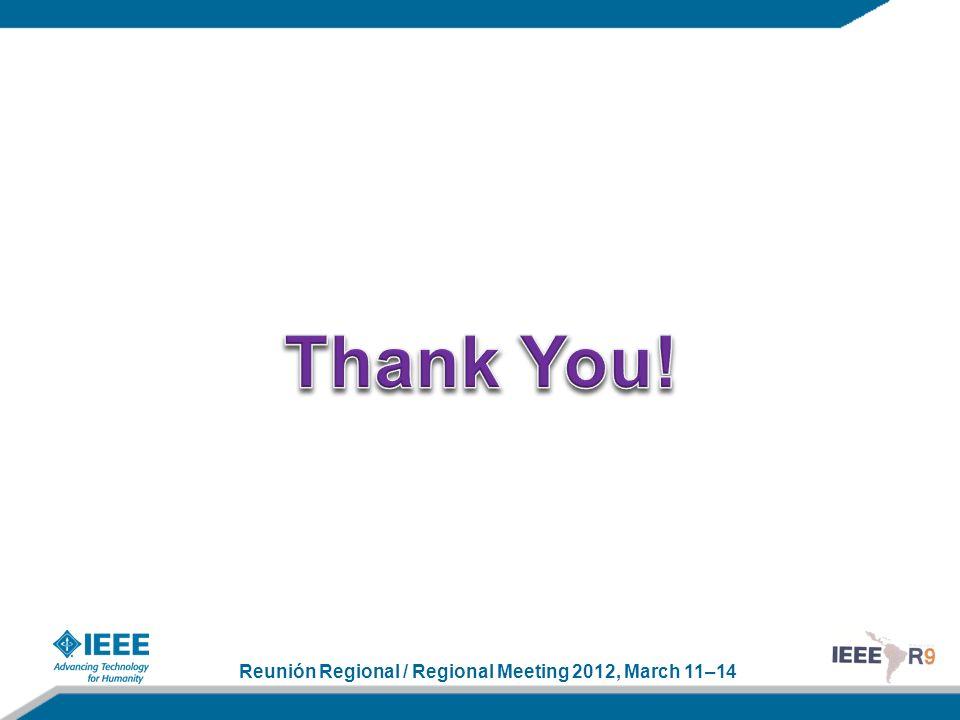 Reunión Regional / Regional Meeting 2012, March 11–14