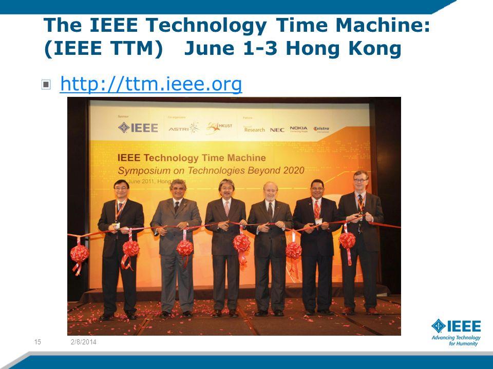 The IEEE Technology Time Machine: (IEEE TTM) June 1-3 Hong Kong http://ttm.ieee.org 2/8/201415