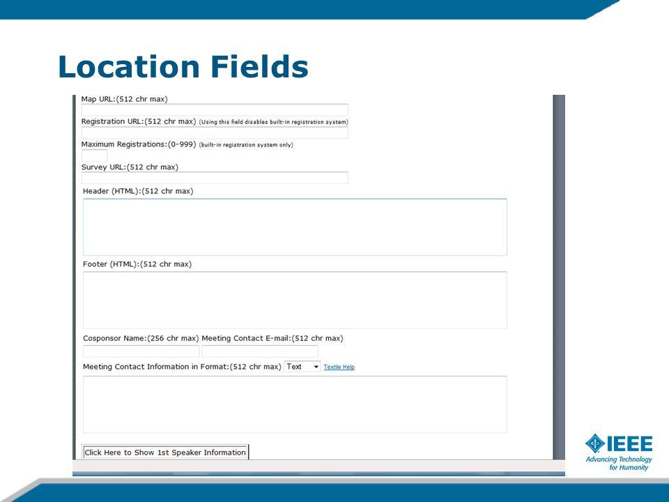 Location Fields