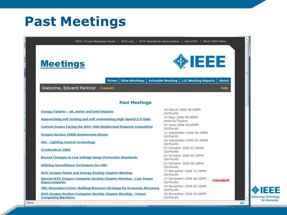 Past Meetings