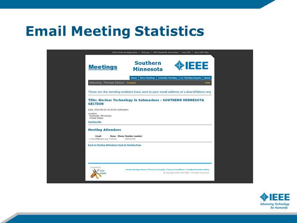 Email Meeting Statistics