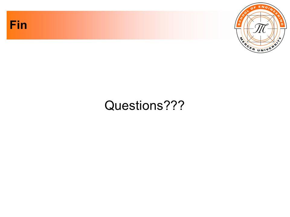 Fin Questions???