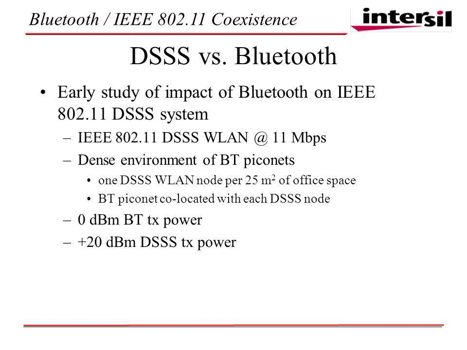 Bluetooth / IEEE Coexistence DSSS vs.