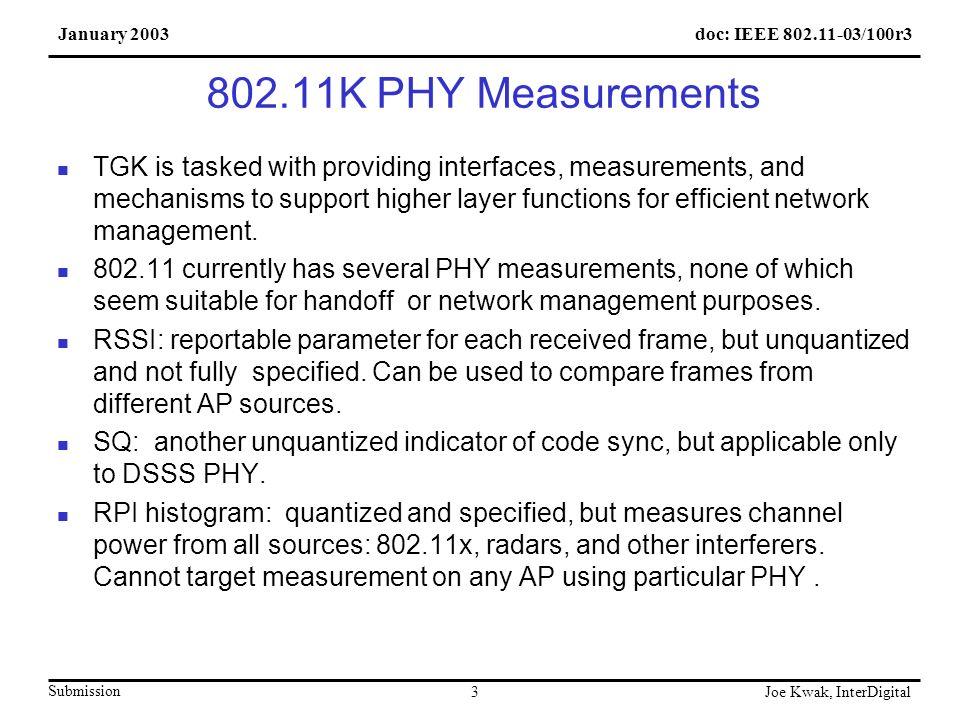 doc: IEEE 802.11-03/100r3January 2003 Submission Joe Kwak, InterDigital 14 Partial DSSS PSNI table