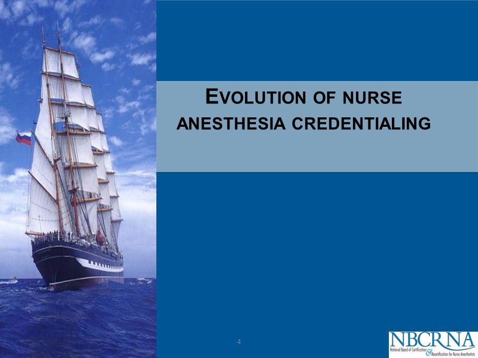 CPC E VOLUTION OF NURSE ANESTHESIA CREDENTIALING 4