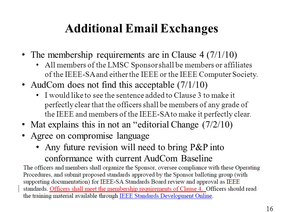 The membership requirements are in Clause 4 (7/1/10) All members of the LMSC Sponsor shall be members or affiliates of the IEEE-SA and either the IEEE or the IEEE Computer Society.