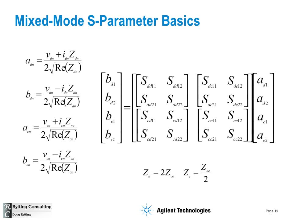 Page 19 Mixed-Mode S-Parameter Basics