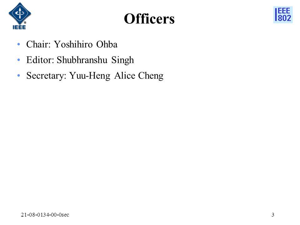 21-08-0134-00-0sec3 Officers Chair: Yoshihiro Ohba Editor: Shubhranshu Singh Secretary: Yuu-Heng Alice Cheng