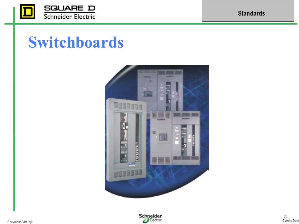 20 Current Date Standards Document Path..ppt Switchboards