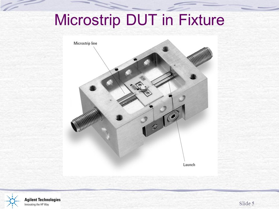 Slide 5 Microstrip DUT in Fixture