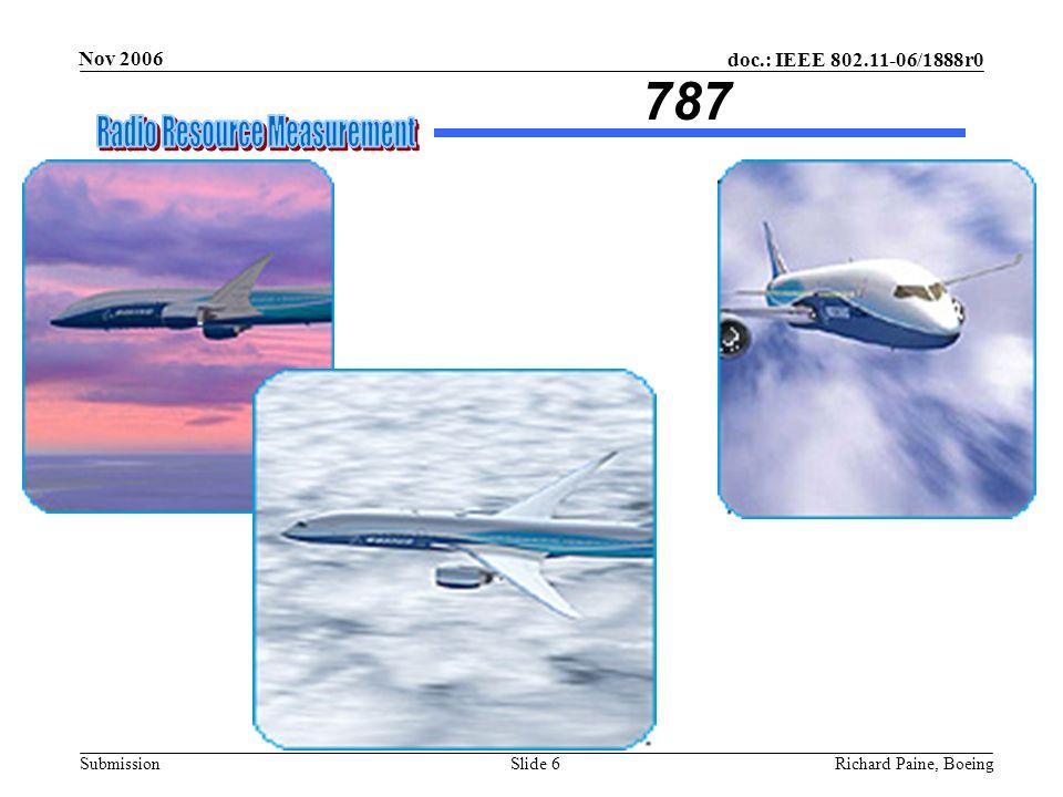doc.: IEEE 802.11-06/1888r0 Submission Nov 2006 Richard Paine, BoeingSlide 7 Flight Test